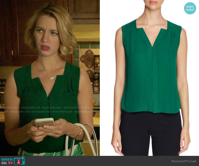 Elie Tahari Sheyda Top worn by Yael Grobglas on Jane the Virgin