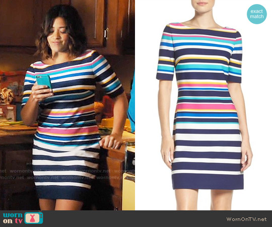 Eliza J Stretch Short Sleeve Dress worn by Gina Rodriguez on Jane the Virgin