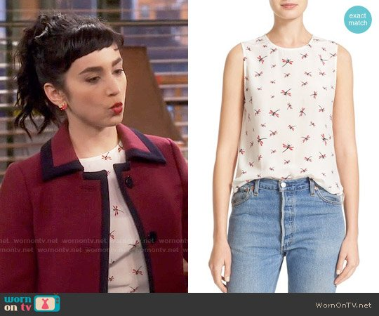 Equipment Lyle Dragonfly Top worn by  Molly Ephraim on Last Man Standing