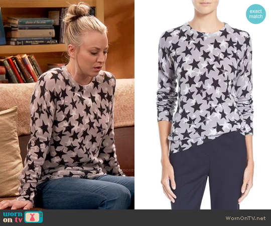 Equipment 'Sloane' Star Print Cashmere Sweater worn by Kaley Cuoco on The Big Bang Theory