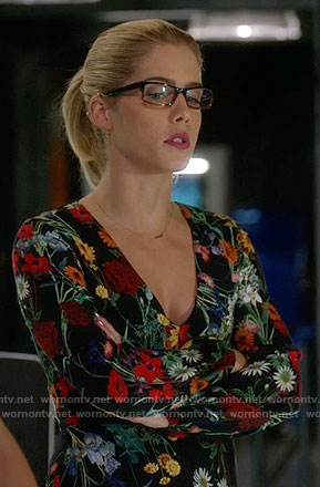 Felicity's daisy print dress on Arrow