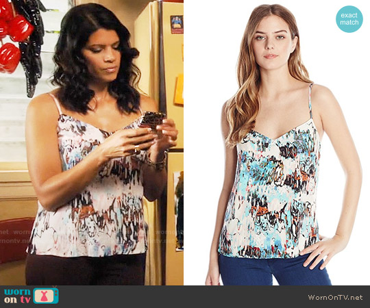 French Connection Isla Ripple Top worn by Andrea Navedo on Jane the Virgin