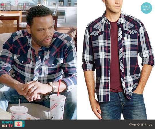 G Star Raw Tacoma Shirt in Indigo Dk Baron worn by Andre Johnson (Anthony Anderson) on Blackish