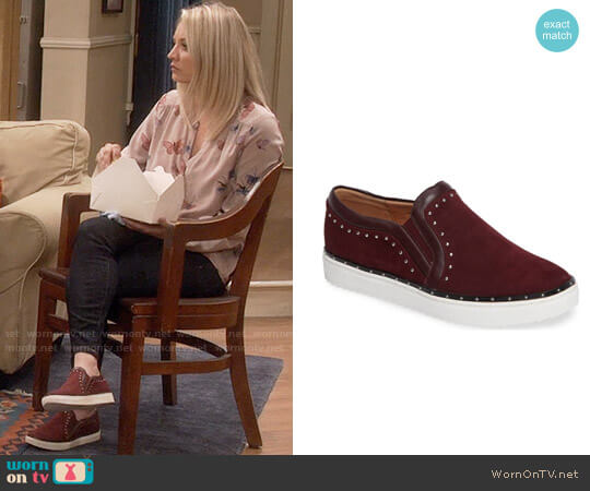 Halogen Tansy Studded Slip On Sneakers worn by Kaley Cuoco on The Big Bang Theory