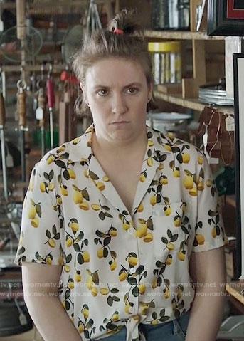 Hannah's lemon print top on Girls