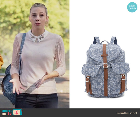 Herschel Supply Co Dawson Backpack worn by Betty Cooper on Riverdale