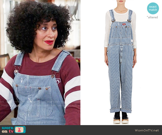 Icons Striped Denim Overalls worn by Tracee Ellis Ross on Blackish