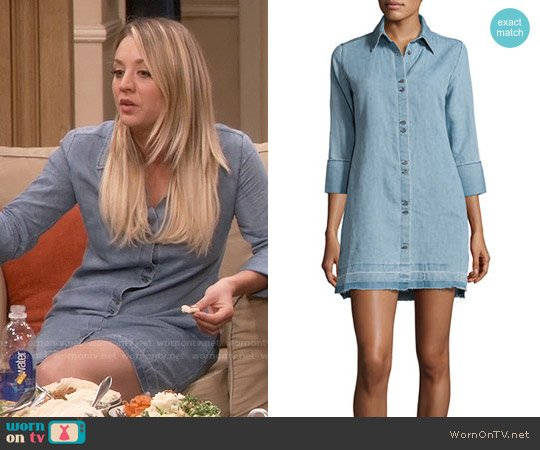 J Brand Bacall Chambray Shirtdress worn by Penny Hofstadter (Kaley Cuoco) on The Big Bang Theory
