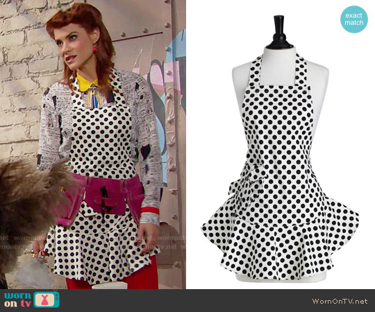 Jessie Steele Josephine Apron in Polka Dots worn by Sally Spectra (Courtney Hope) on The Bold & the Beautiful