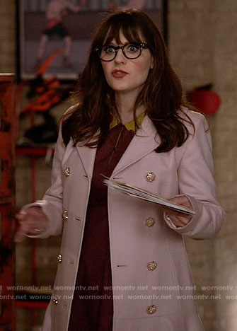 Jess's pink coat on New Girl