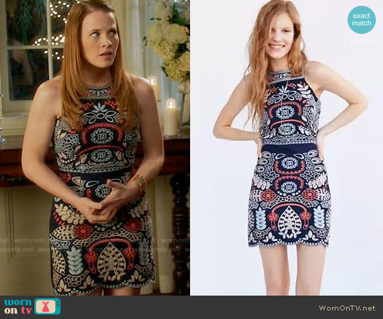 JOA Embroidered Tank Dress worn by Katie Leclerc on Switched at Birth
