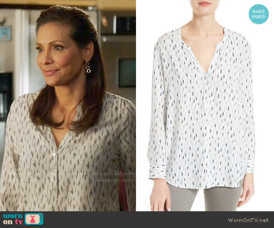 Joie Dane Print Top worn by Constance Marie on Switched at Birth
