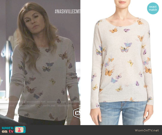 Joie Eloisa Butterfly Sweater worn by Connie Britton on Nashville