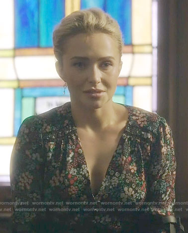 Juliette's floral v-neck blouse on Nashville