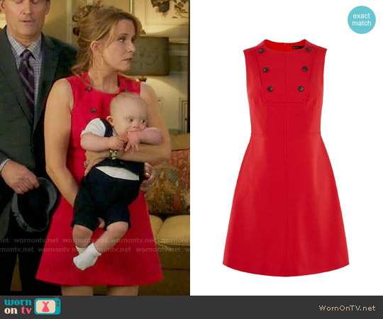 Karen Millen Button Detail Mini Dress worn by Kathryn Kennish (Lea Thompson) on Switched at Birth