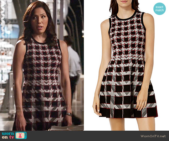 Karen Millen Houndstooth A-Line Dress worn by Michaela Conlin on Bones