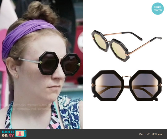 Karen Walker 'Moon Disco' Sunglasses worn by Hannah Horvath (Lena Dunham) on Girls