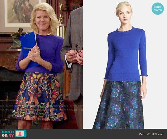 Kate Spade Bekki Sweater worn by Pamela Douglas (Alley Mills) on The Bold & the Beautiful
