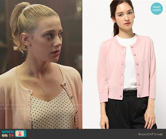 Kate Spade Jewel Button Cardigan worn by Lili Reinhart on Riverdale