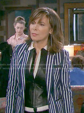 Kate's blue striped blazer on Days of our Lives