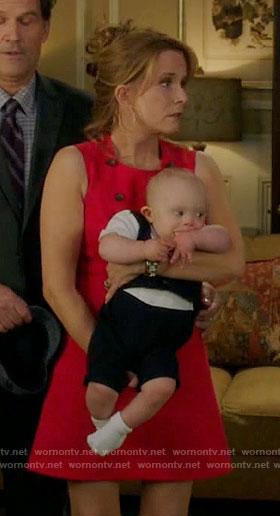 Kathryn's red a-line dress on Switched at Birth
