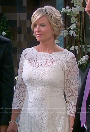 Kayla's wedding dress on Days of our Lives