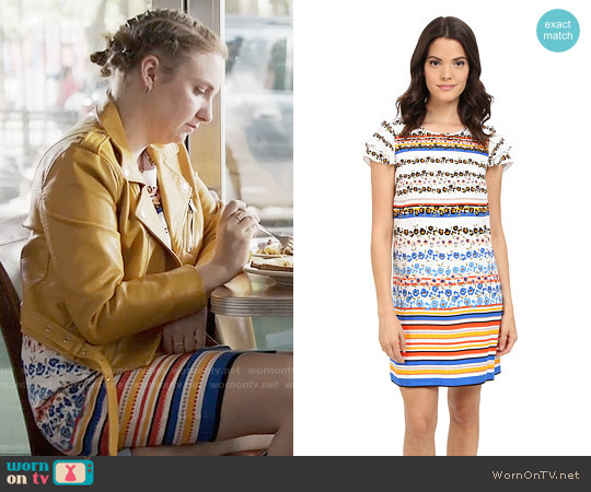 Kensie Floral Stripes Dress worn by Lena Dunham on Girls