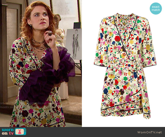 Kenzo Tanami Flower Dress worn by Courtney Hope on The Bold & the Beautiful