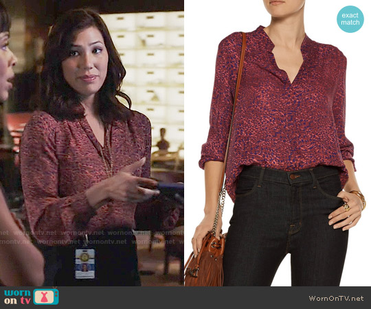 L'Agence Bianca Blouse worn by Michaela Conlin on Bones