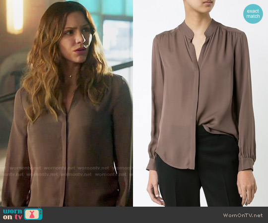 L'Agence Band Collar shirt worn by Katharine McPhee on Scorpion