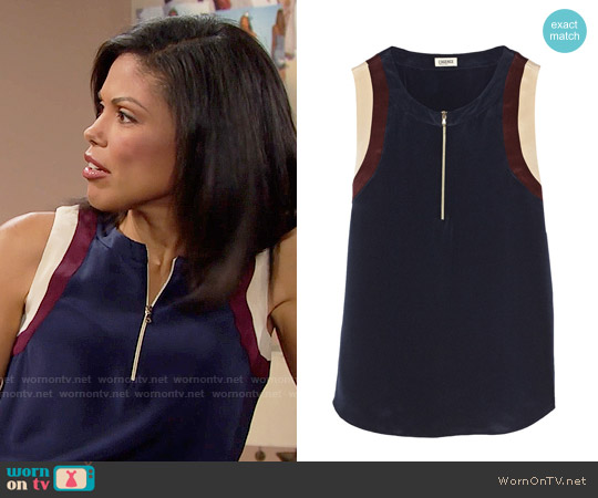L'Agence Silk Top worn by Karla Mosley on The Bold & the Beautiful
