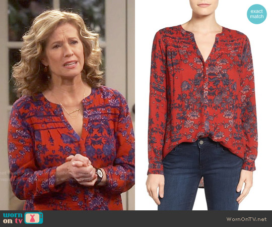 Lucky Brand Vintage Print Top worn by Nancy Travis on Last Man Standing