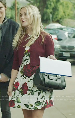 Madeline's rose print drop-waist dress on Big Little Lies