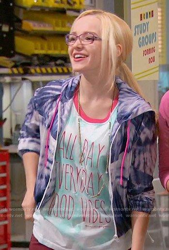 Maddie's All Day Every Day Good Vibes top on Liv and Maddie