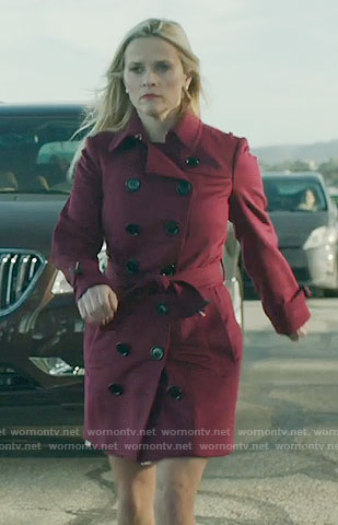 Madeline's red trench coat on Big Little Lies