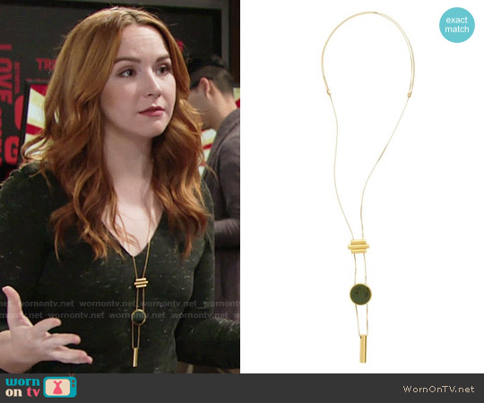 Madewell Sliding Cylinder Pendant Necklace worn by Mariah Copeland on The Young & the Restless