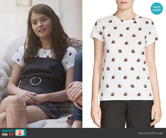 Maje Tami Printed Tee worn by Sabrina Pemberton (Sofia Black D'Elia) on The Mick