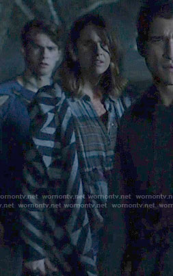Malia's geometric patterned jacket on Teen Wolf