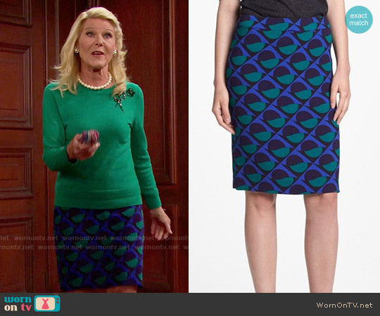 Marc by Marc Jacobs Etta Skirt worn by Pamela Douglas on The Bold & the Beautiful