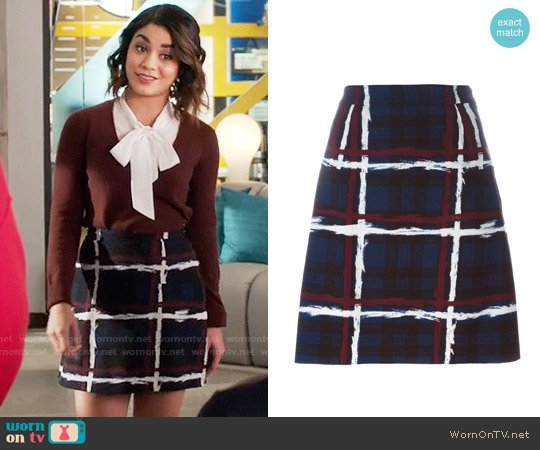 Marc by Marc Jacobs Checked A-Line Skirt worn by Vanessa Hudgens on Powerless