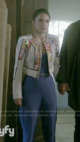 Margo's print paneled jacket on The Magicians