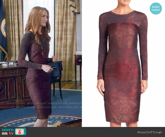 Max Mara Varna Dress worn by Abby Whelan (Darby Stanchfield) on Scandal