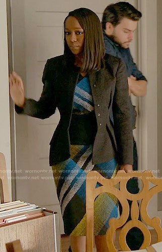 Michaela's plaid dress on How to Get Away with Murder