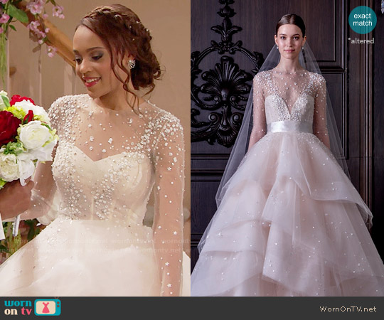 Monique Lhuillier Aviva Gown worn by Nicole Avant (Reign Edwards) on The Bold & the Beautiful