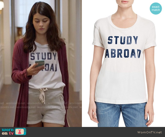 Mother Goodie Goodie Tee in Study Abroad worn by Sabrina Pemberton (Sofia Black D'Elia) on The Mick