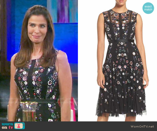 Needle & Thread Embellished Tulle Fit & Flare Dress worn by Kristian Alfonso on Days of our Lives