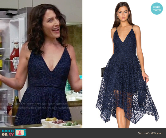 Nicholas Geo Floral Lace Ball Dress worn by Lisa Edelstein on GG2D