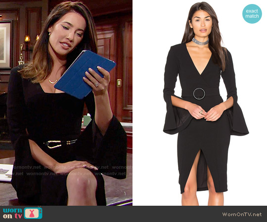 Nicholas Textured Crepe Blazer Dress worn by Steffy Forrester (Jacqueline MacInnes Wood) on The Bold & the Beautiful