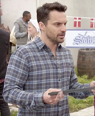Nick's blue plaid shirt on New Girl