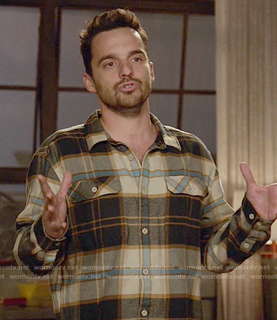 Nick's brown flannel shirt on New Girl